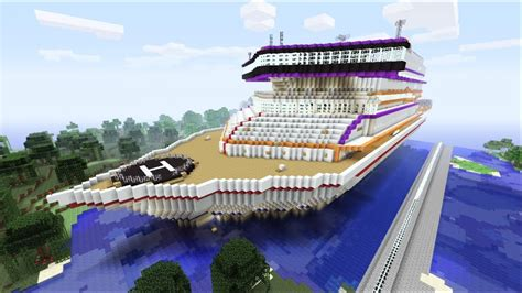 biggest boat in the world tour minecraft xbox luxory cruise ship prestige sur la mer
