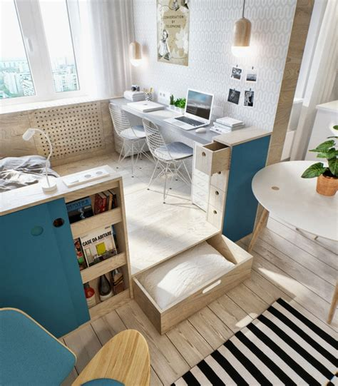 apartment design mit 1 schlafzimmer 1 zimmer wohnung einrichten 13 apartments als inspiration