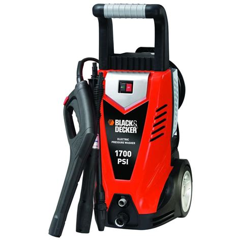 black decker 1700 psi 1 4 gpm electric pressure washer
