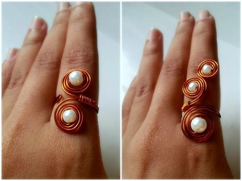 how to make rings out of wire and swirly beaded wire ring 183 how to make a wire swirl ring