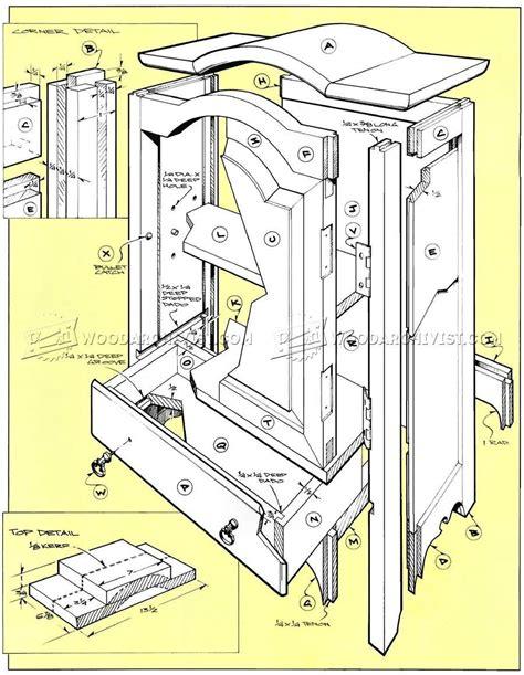 table top jewelry armoire plans woodarchivist