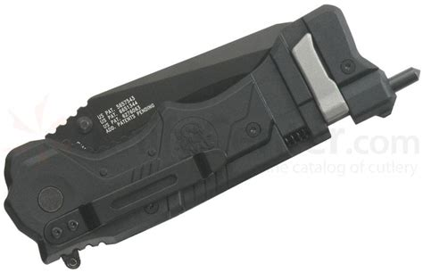 smith wesson response rescue 3 4 quot assisted tanto black combo blade glass breaker