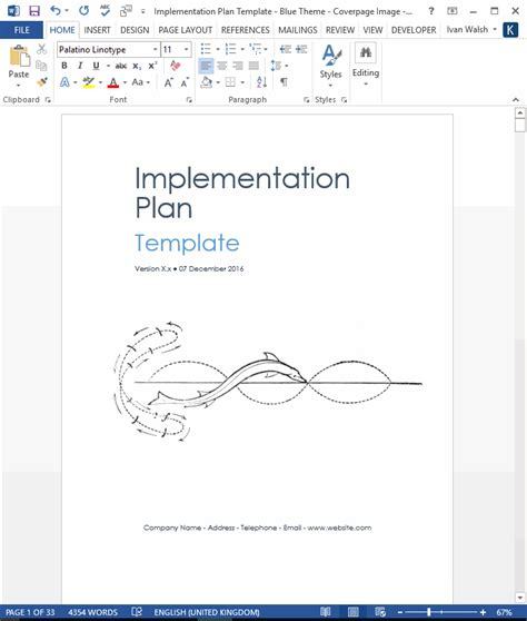 software implementation template implementation plan template ms word