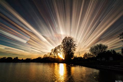 mesmerizing photos timestack photos collapse entire sunsets into single mesmerizing images huffpost