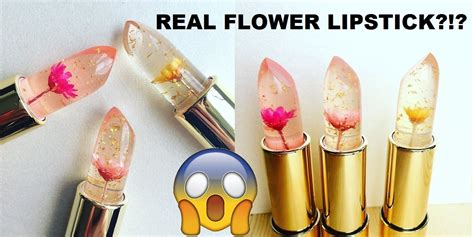 Lipstik Jelly real flowers in lipstick kailijumei jelly mood lipstick review lip swatches