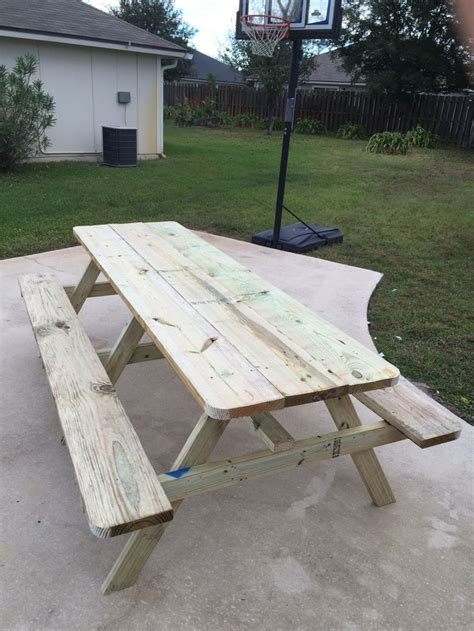 foot picnic table plans  woodworking projects plans