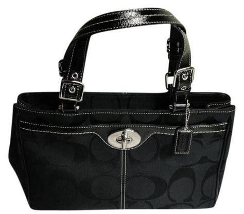 New Classic Handbag Black coach new signature handbag black satchel satchels on sale