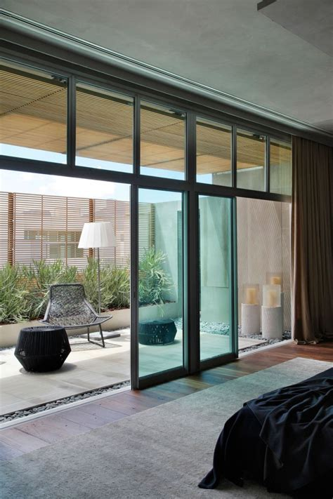 bedroom sliding glass doors art filled bachelor pad with cool design