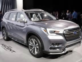 Subaru Size Suv Subaru Rolls Out Its Ascent Size Suv