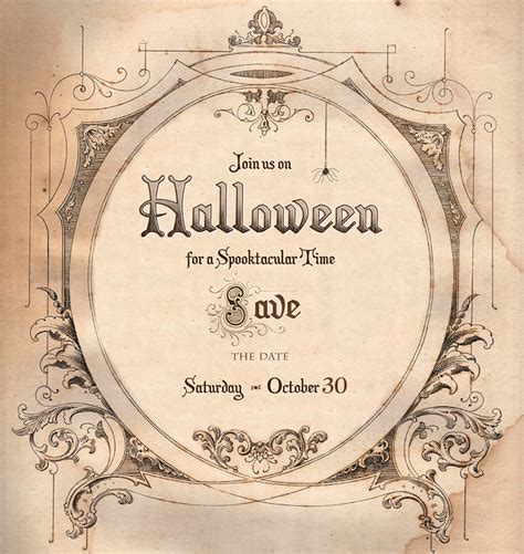 printable halloween invitations save the date for halloween free download living locurto