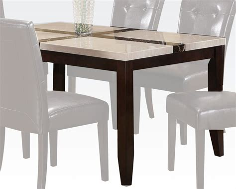 Acme Dining Room Sets by Acme White Faux Marble Top Dining Table Justin Ac16550