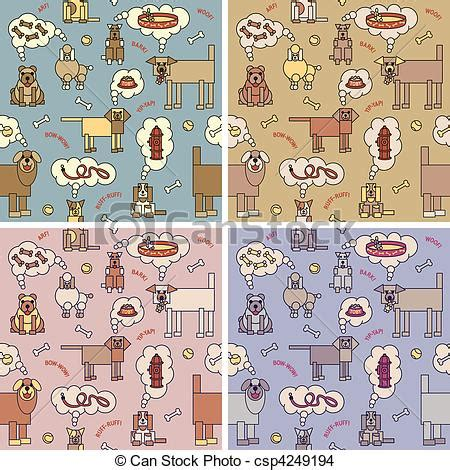 thinking pattern en francais eps vector of dogs thinking pattern a vector repeating