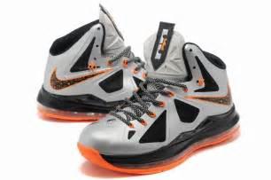 lebron 10 shoes popular lebron 10 shoes white black orange for sale