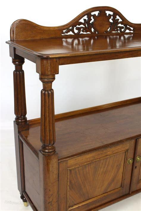 2 tier mahogany buffet side table or dumb waiter