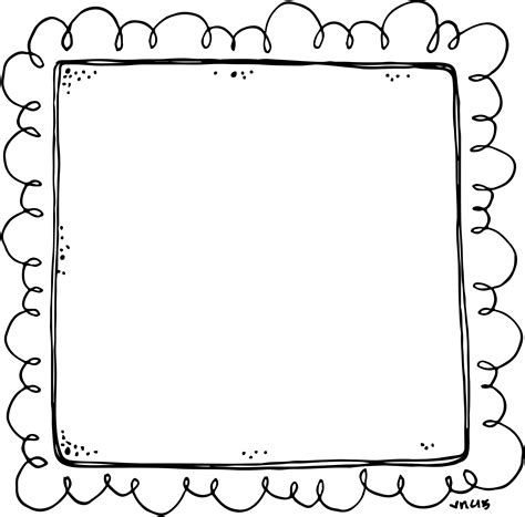 frame template border or frame for newsletters announcements black
