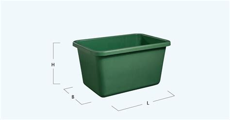 design guidelines for rectangular steel bins rectangular container green from graf