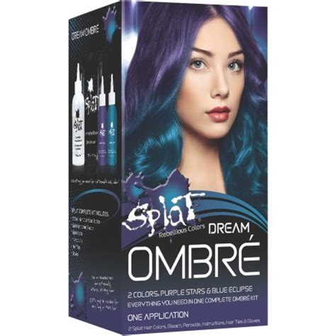 how to dye your hair with splat ombre splat semi permanent bold ombr 233 hair color kit dream