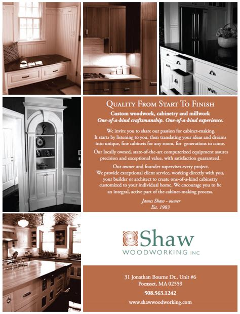 in the media shaw woodworking inc