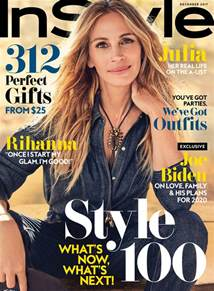 style magazine covers the december issue of instyle