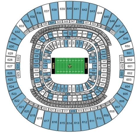 mercedes superdome seating 3d carolina panthers vs new orleans saints tickets 12 7 2014