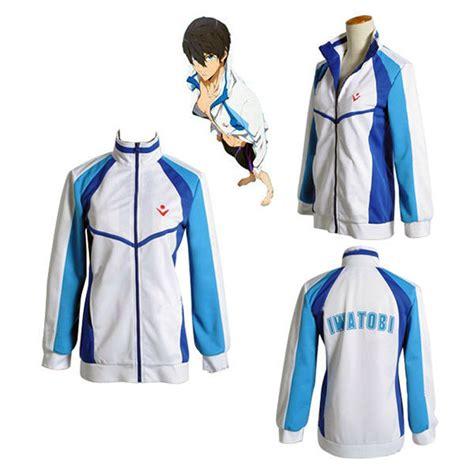 Costume Jaket Anime Blue Yellow anime free iwatobi swim club haruka nanase costume jacket unisex hoodie high school