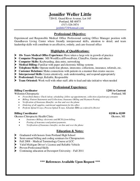 Clinical Pathologist Sle Resume by Front Office Resume Thebridgesummit Co