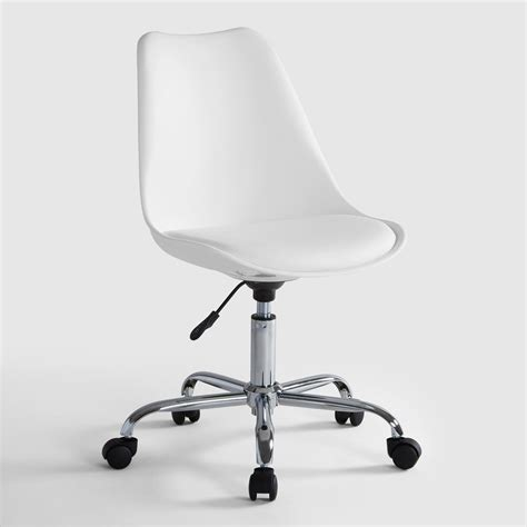 White Office Desk Chair White Emerson Office Chair World Market