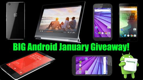 Android Giveaway - auh yes big android january giveaway