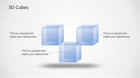 transparent 3d cubes for powerpoint slidemodel