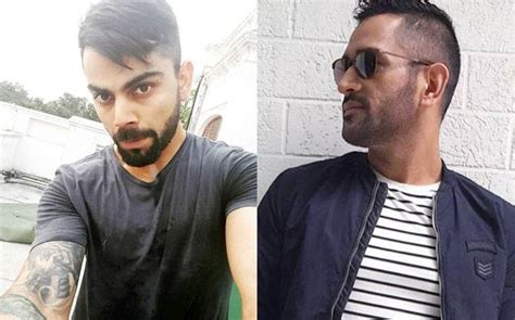 changing hairstyles dhoni hairstyle hair raising battle between india s cricket captains