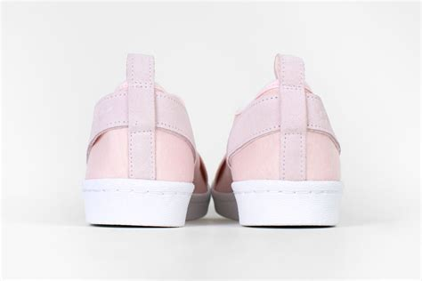 Adidas Slip On Baby Pink a light pink covers adidas originals superstar slip on hypebae