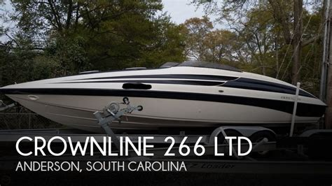 used boats for sale in anderson south carolina for sale used 1998 crownline 266 ltd in anderson south