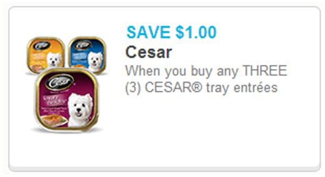 printable cesar dog food coupons cesar dog food only 0 37 at walmart