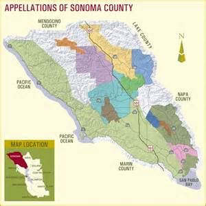 russian river valley california map appellations of sonoma county the pinotfile volume 6