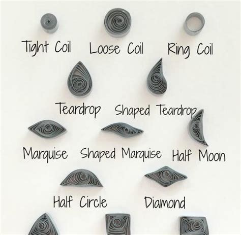 How To Make Different Shapes In Paper Quilling - paper quilling shape practice printable worksheet