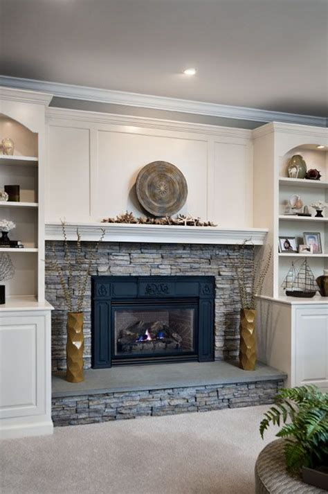 Build In Fireplace by Stacked Fireplace Built Ins House Ideas
