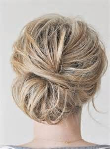 Mature messy easy prom updo mature messy bun easy prom hairstyle back