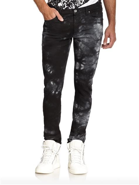 Country 117 Denim lyst versace cloud print in gray for
