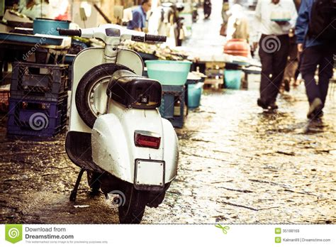 Italian House Plans Vintage Vespa On Street Royalty Free Stock Images Image