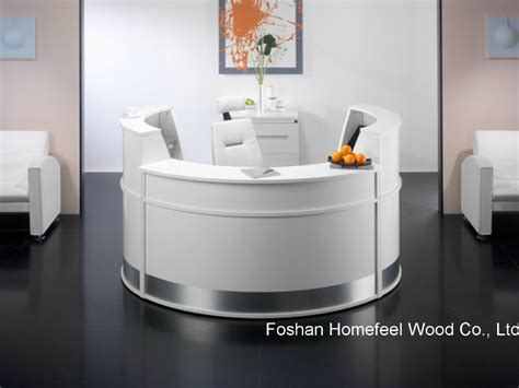 China White High Gloss Elegant Salon Reception Desk White Reception Desk Salon