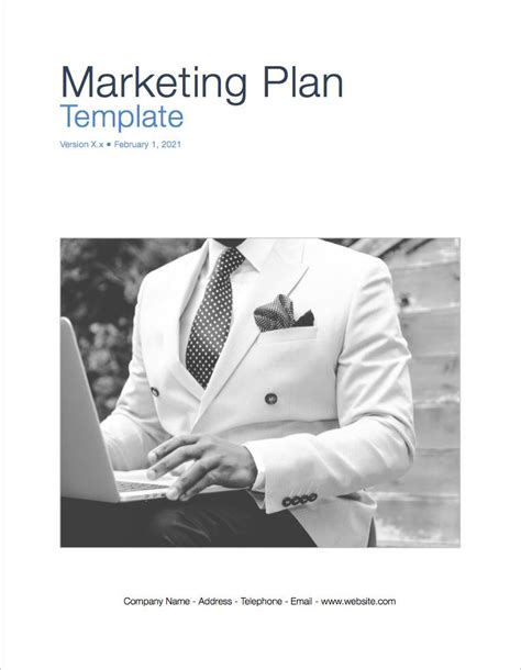 marketing page template marketing plan apple iwork