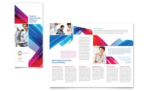 microsoft publisher tri fold brochure templates software solutions tri fold brochure template word