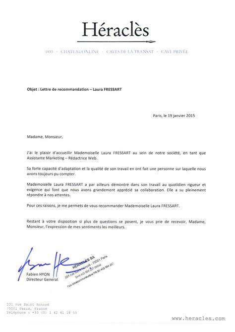 Lettre De Motivation Lettre De Recommandation Modele Lettre De Recommandation Marketing Document