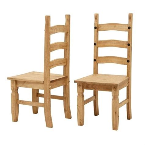 Corona Mexican Solid Pine Ladderback Chairs L203 With Mexican Dining Chairs