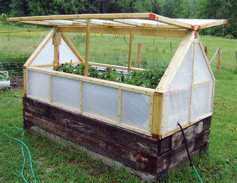 raised bed greenhouse inexpensive mini greenhouse diy mother earth news