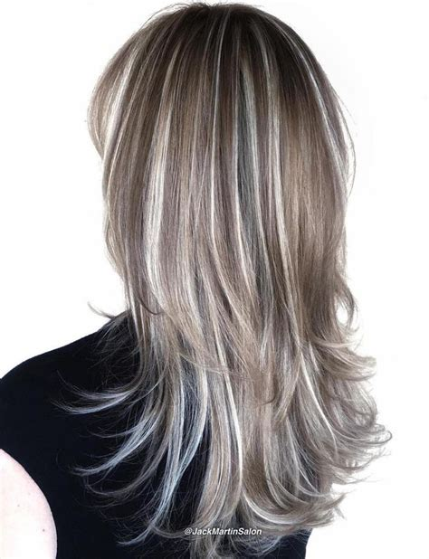 diy lowlights to color grays 40 hair сolor ideas with white and platinum blonde hair