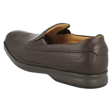 mens clarks wide slip on shoes scopic step ebay
