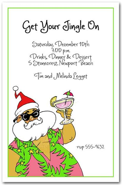 christmas in hawaii themed party aloha santa tropical invitations