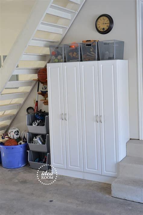Garage Storage Net Organize Garage Clutter The Idea Room