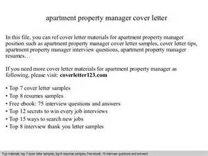 cover letter for apartment apartment property manager cover letter